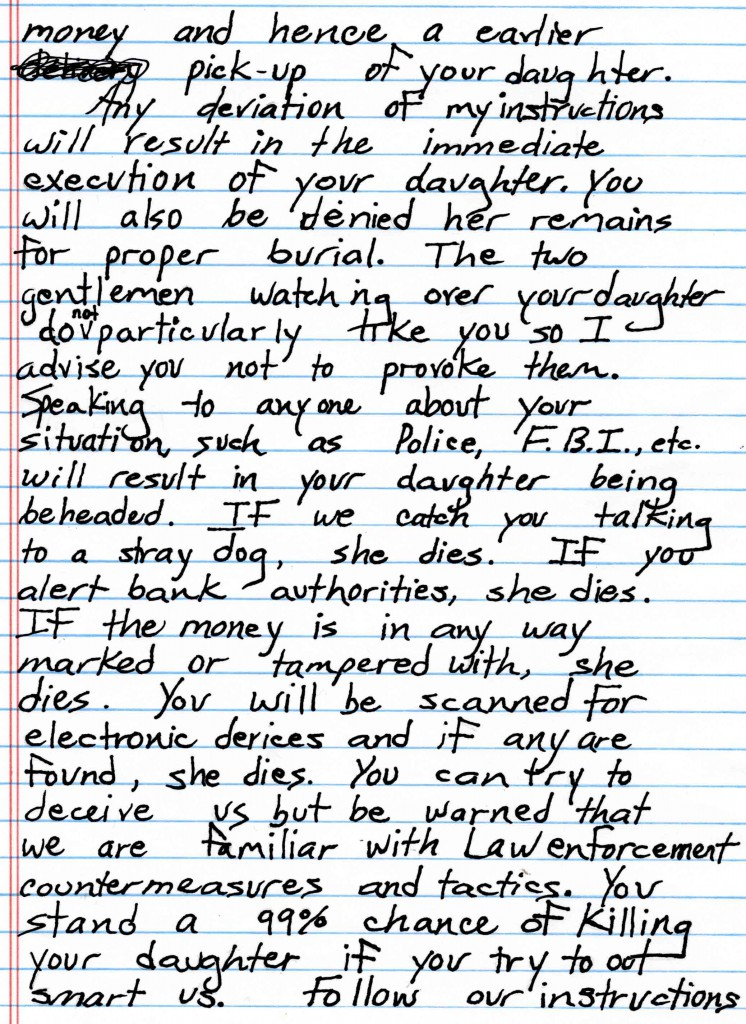 disguised handwriting unmasking the ramsey ransom note expert